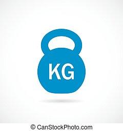 Kettlebell weight vector icon illustration