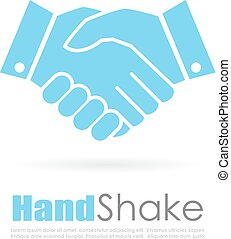 Handshake abstract business logo - Handshake abstract...