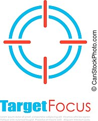 Target focus abstract logo - Target focus abstract vector...