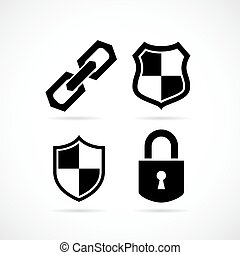 Strong protection security icon
