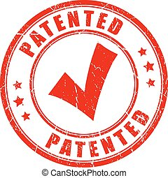 Old patented rubber stamp - Old patented rubber vector stamp