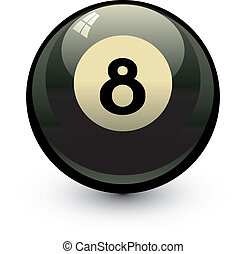 Eight ball. Vector illustration over white. EPS 8, AI, JPEG