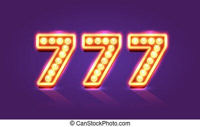 Casino 777 neon signboard, Winner triple sevens. - Casino...