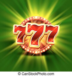 Big win slots 777 banner casino on the green background ....
