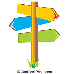 signpost - vector image column with the direction indicator