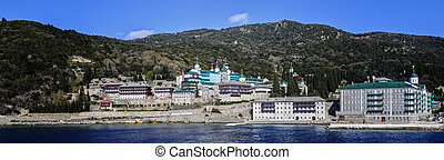 Saint Panteleimon Monastery, Athos Peninsula, Mount Athos,...
