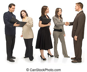 Networking Group - Group of corporate business people...
