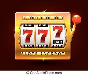 Casino slots jackpot one million. Vector illustration