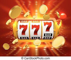 Golden Big win slots 777 banner casino fly coins. - Golden...
