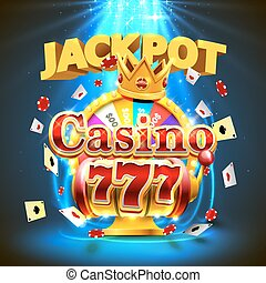 Jackpot casino 777 slots and fortune king banner. - Jackpot...