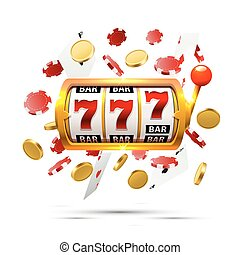 Big win slots 777 banner casino background. - Big win slots...