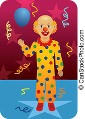 Clown - Circus Clown with Balloon