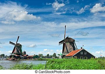 Windmühle, landschaftsbild