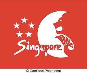 imaginative singapore symbol - Creative design of...
