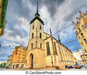 James church in the old town of Brno, Czech Republic - James...