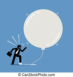Money Investment Bubble. - Vector artwork depicts a happy...