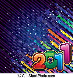 happy new year 2011 - vector illustration of happy new year...