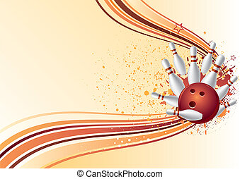 bowling background - vector background of bowling sport