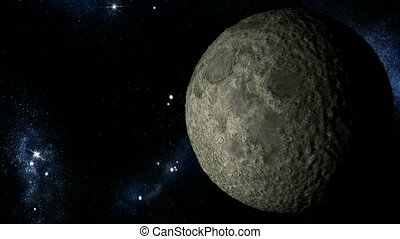 Moon Close-up rotation. Alpha Matte