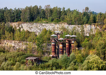 Liban Quarry in Krakow - Abandoned Liban Quarry with...