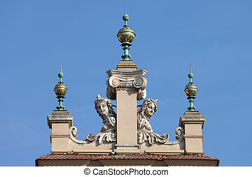 Dinials and Sculptures of the Sukiennice in Krakow -...