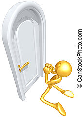 Gold Guy Begging To Be Let In At Cl - A Concept And...