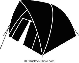 Mountain tent icon, simple style - Mountain tent icon....