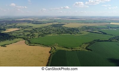 Flight over countryside In central Russia - Flight over the...