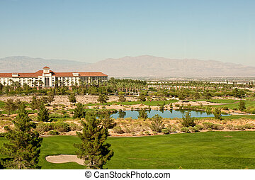 Resort Building at a Desert Golf Course