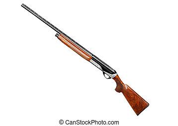 caza, escopeta, aislado