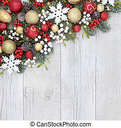 Christmas Background Border - Christmas background with...