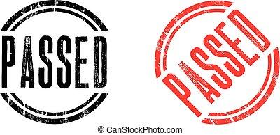 stamp passed