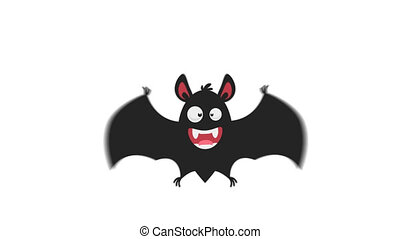 Cheerful Bat in Flight Version 1. Motion Graphics....