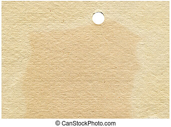 old yellowed paper with a round hole