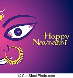 happy navratri festival poster - creative happy navratri...