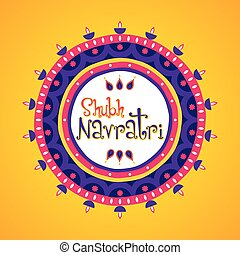 happy navratri greeting design - creative happy navratri...