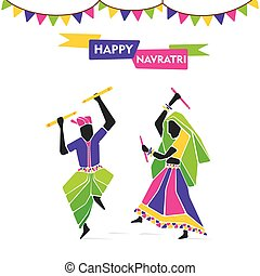 happy navratri festive poster - happy navratri, playing...