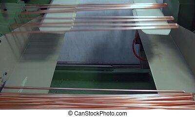 Manufacture of metal tubes on industrial CNC machine slow...