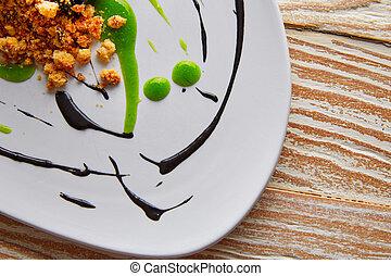 Molecular gastonomy cuttlefish roes mayonnaise - Molecular...