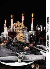 Table setting for Halloween - The idea of creating an...