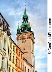 Old Town Hall tower in Brno, Czech Republic - Old Town Hall...