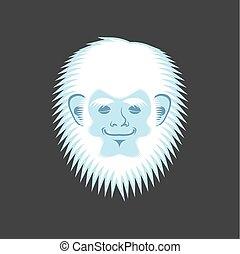 Yeti sleeping emoji. Bigfoot asleep emotion face. Abominable...