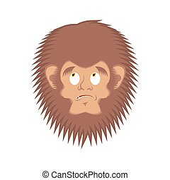 Bigfoot guilty emoji. Yeti delinquent face. Abominable...