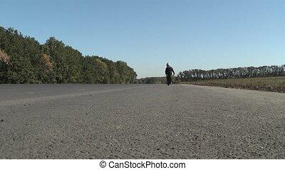 foot - boy goes walking