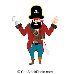 Pirate surrenders. filibuster apologize. buccaneer guilty....
