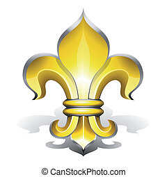 Fleur de Lys, antique symbol of french royalty