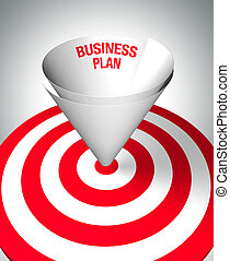 Winning business plan - A paper funnel help to center the...