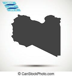 gray vector libya icon