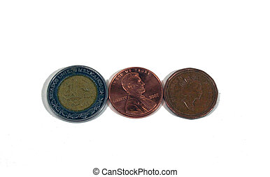 US Mexican Canadian coins - Coins from US Mexico and Canada...