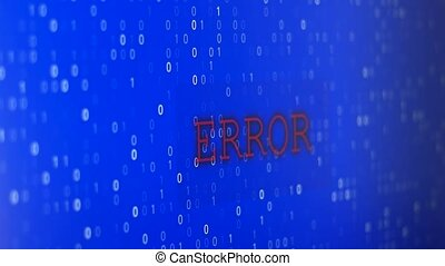 Computer Data Error - Glitched and flashing computer blue...